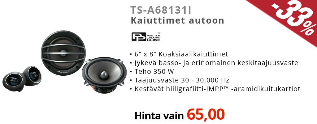 Pioneer TS-A6813I Ale Tarjous